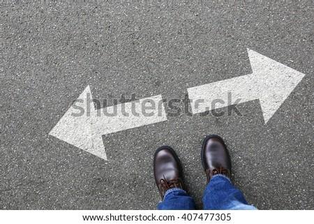 Decision decide business man concept businessman goals success solution job work choice Stock foto ©