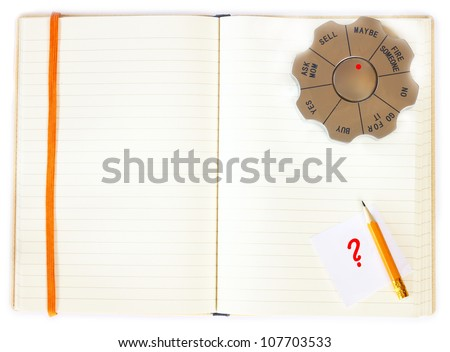 decision maker and notebook - decision making concept
