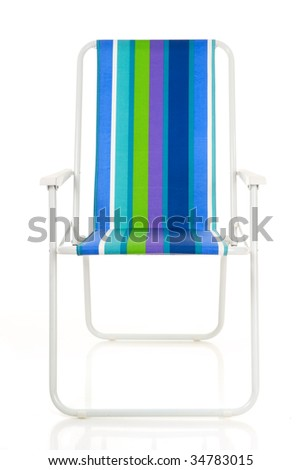 deck-chair isolated on white background
