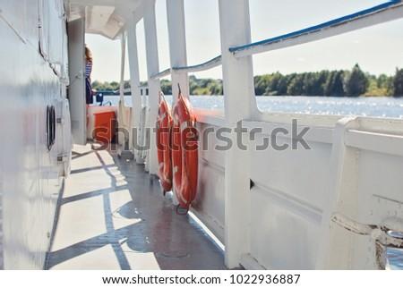 Deck of a pleasure craft #1022936887