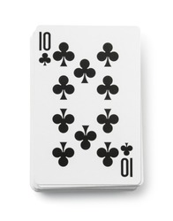 Deck of playing cards isolated on white