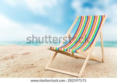 Deckchair, chair, beach.