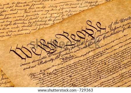 declaration of independence signatures. stock photo : Declaration of
