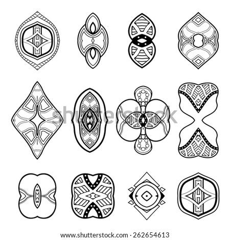 Deco Abstract Elements. Design elements #262654613