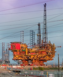 Decommissioned Gas Platform
