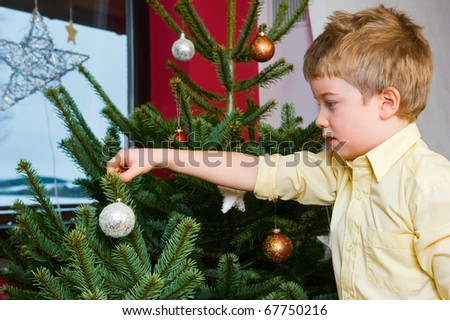 decorate the christmas-tree