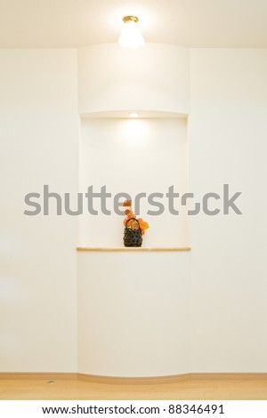 Decorate the walls of the entrance room - stock photo