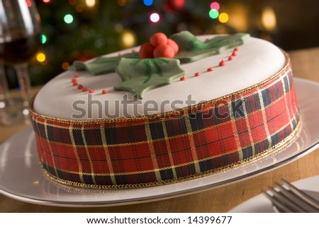Fruits Decoration Decorated Christmas Fruit Cake
