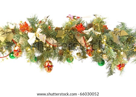 Decorated Christmas Garland