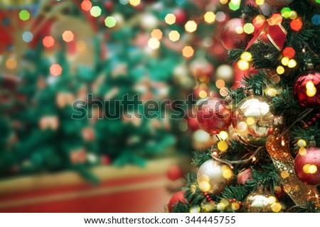 decorated Christmas tree  #344445755