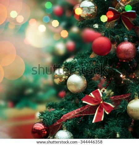 Decorated Christmas Tree Stock Photo 344446358 : Shutterstock