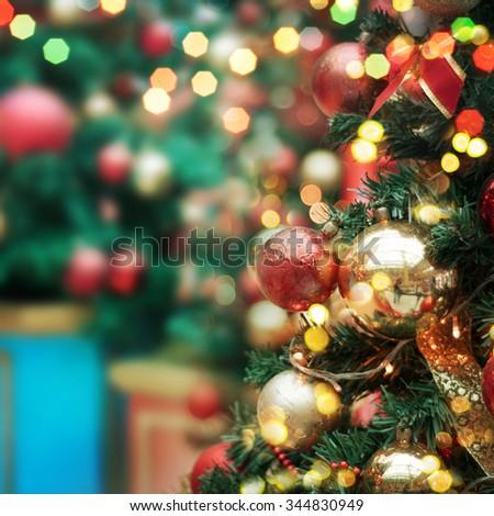 decorated Christmas tree  #344830949