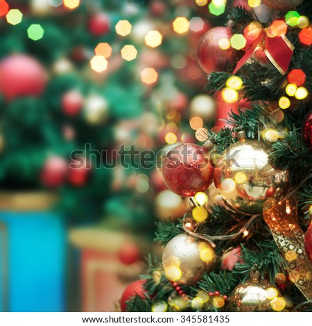 decorated Christmas tree  #345581435