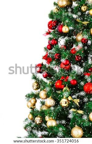 Decorated Christmas Tree Stock Photo 351724016 : Shutterstock