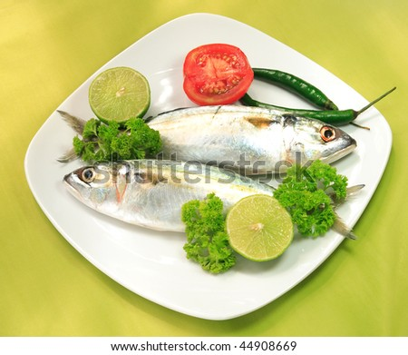 Decorated dish of fish