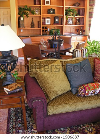 Decorated home interior