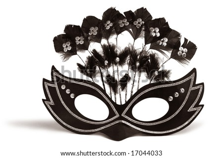 Decorated mask for masquerade and mardi gras