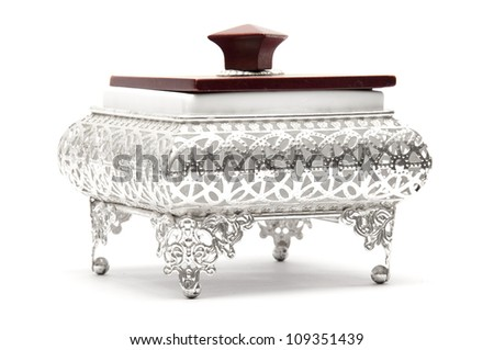 Decorated Silver Bowl