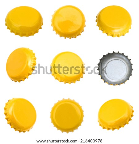Decorating on beer caps
