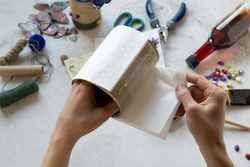 Decorating tin cans with decoupage napkins with using various decor elements. Do it yourself. Step by step. Step 7. Gluing the base, white napkin on the tin. There is no waste. Other uses of packaging