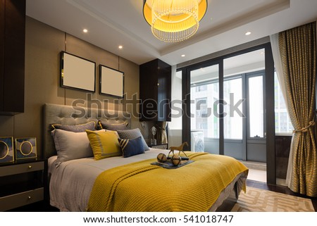 decoration and design of modern bedroom