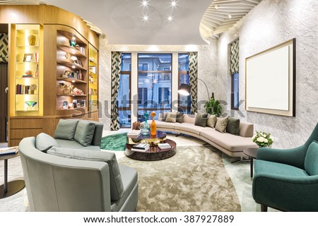 decoration and furniture in moder n living room