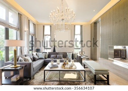 decoration and furniture in modern living room