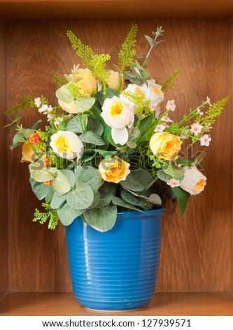 decoration artificial flower in home