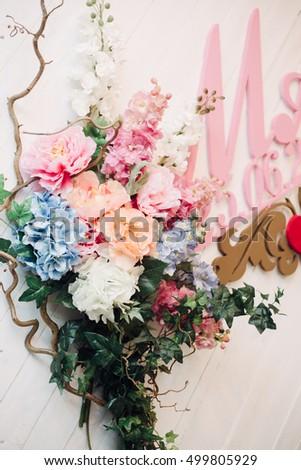 Decoration for a wedding detalies elegant event