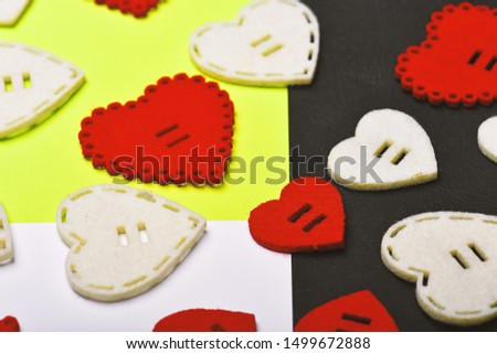 Decoration heart background. Love symbol valentines day. Valentines day holiday celebration. Texture with hearts close up. Traditional attributes of valentines day. Be my valentine. Lovely background. #1499672888