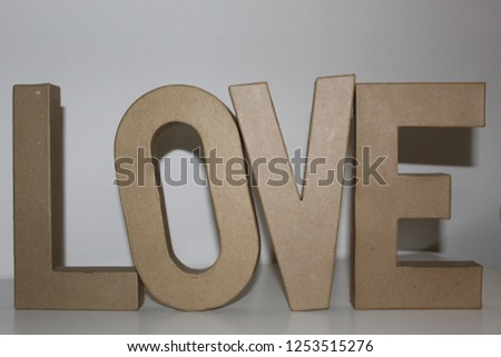 decoration love letters #1253515276