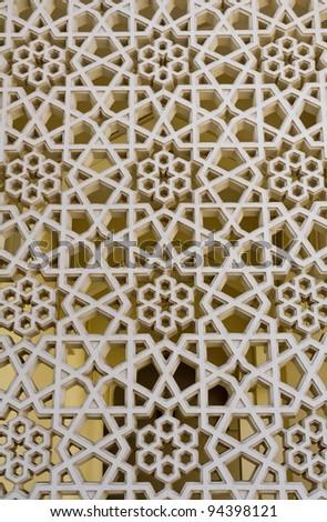 Decoration of Bastakiya Mosque in Dubai, UAE - The Bastakia quarter, or Bastakiya, is an area of Dubai on the Bur Dubai side of the Dubai Creek that dates from the 1890.