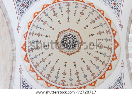 Decoration of Ceiling from Suleymaniye Mosque, Istanbul
