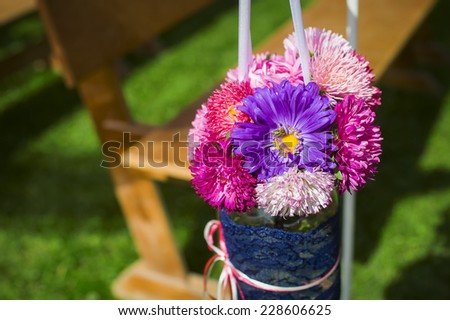 decoration of flowers on holiday.