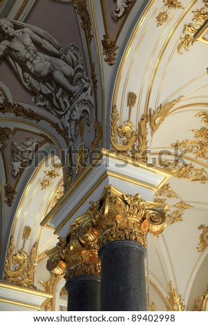 Decoration of main Staircase of the Winter Palace, Saint Petersburg, Russia