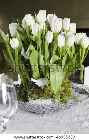 valentines table decorations. stock photo : Decoration of