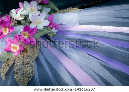 Decoration of the wedding car