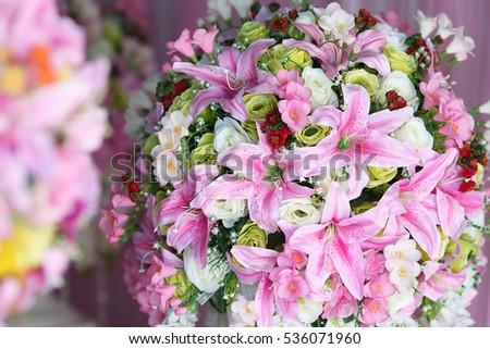 Decoration Of Wedding Ceremony Flowers In Greek Vase Ez Canvas