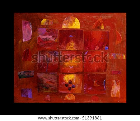 decoration painting - abstract, my artistic creation