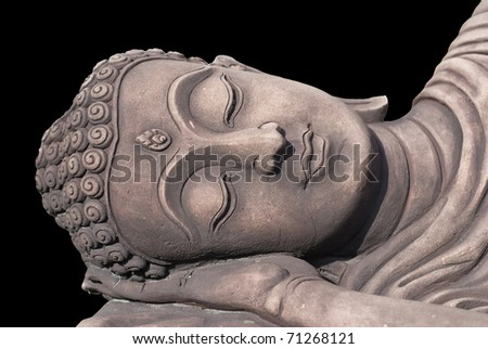 decoration sandstone buddha head for hotel resort and garden