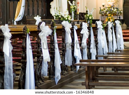 Decoration wedding church