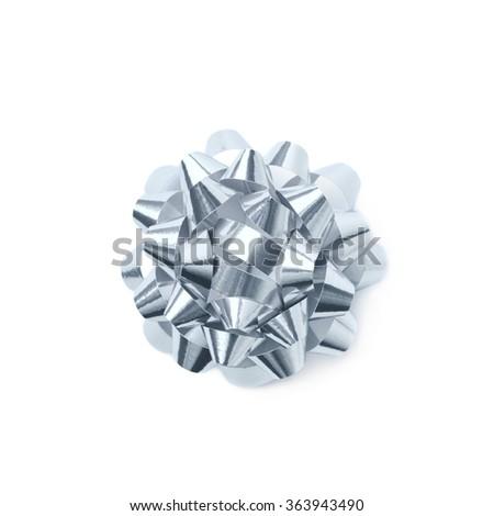 Decorational ribbon gift bow isolated #363943490