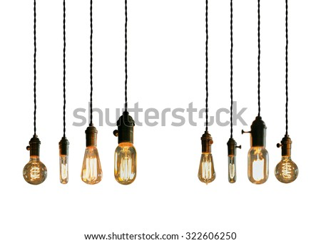 Decorative antique edison style filament light bulbs