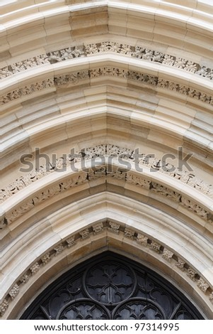 Decorative arch over a church door