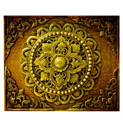 Decorative Art of Lanna Thai. Engraving of the gold value.