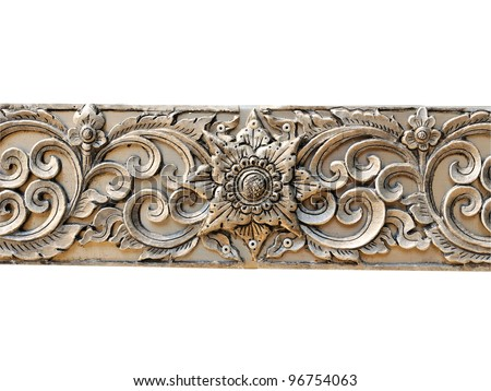 Decorative Art of Lanna Thai. Engraving of the silver value.