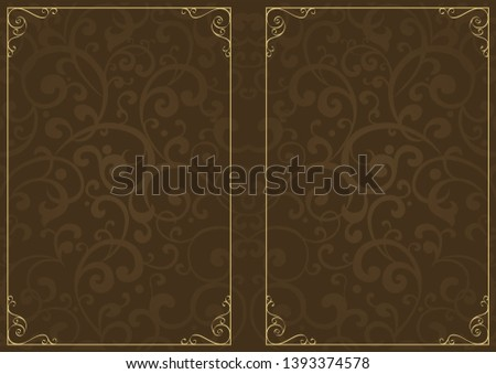 Decorative background with decorative frame.