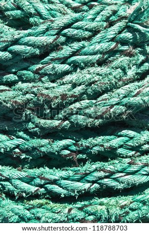Decorative, beautiful rope of the cruise ship, background, texture