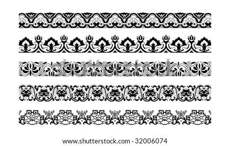 Chinese Decorative Border Decorative Border Ornament