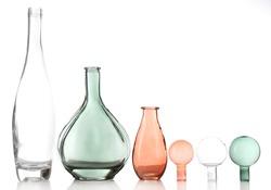 Decorative bottles, isolated on white